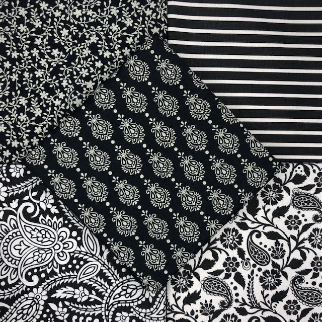 Kit Amarradinho finesse Preto - 50cm x 75cm  - Tecidos Digitais