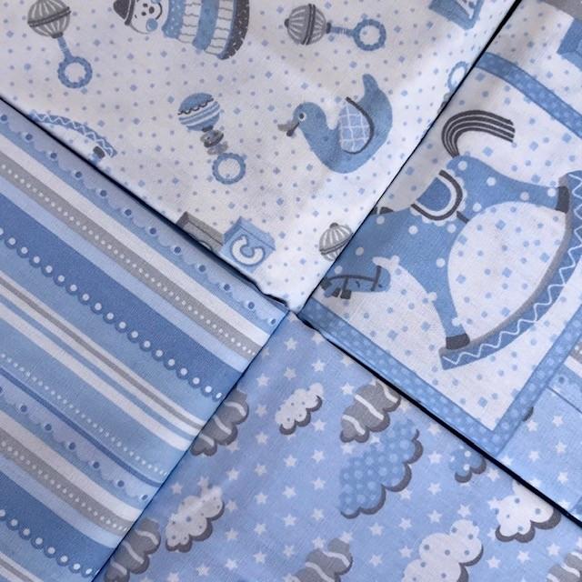 Kit Amarradinho First Toys Azul - 50cm x 150cm  - Tecidos Digitais