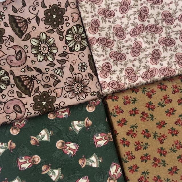 Kit Amarradinho Flores Sunbonnet - 50cm x 150cm  - Tecidos Digitais