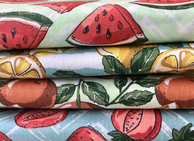 Kit Amarradinho Frutas - 50cm x 150cm  - Tecidos Digitais