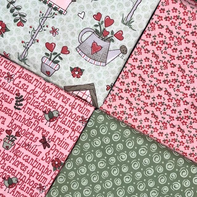 Kit Amarradinho Garden 2 - 50cm x 150cm  - Tecidos Digitais