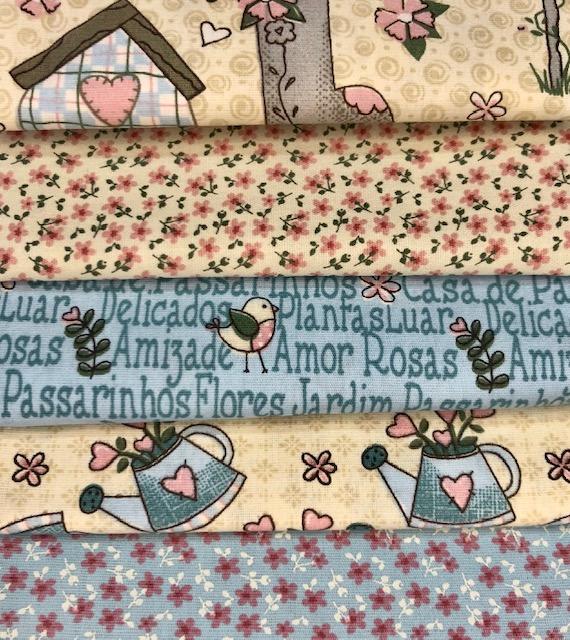 Kit Amarradinho Garden Creme - 50cm x 75cm  - Tecidos Digitais