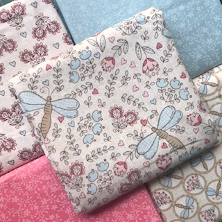 Kit Amarradinho Libélulas Rosa e Azul - 50cm x 150cm  - Tecidos Digitais