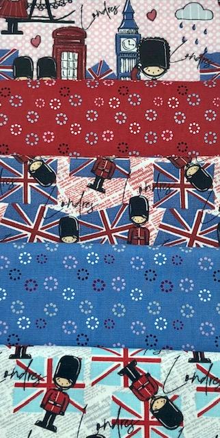 Kit Amarradinho Londres - 50cm x 75cm  - Tecidos Digitais