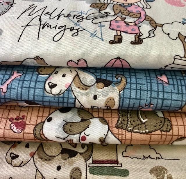 Kit Amarradinho Melhores Amigos (Cachorro) - 50cm x 150cm  - Tecidos Digitais