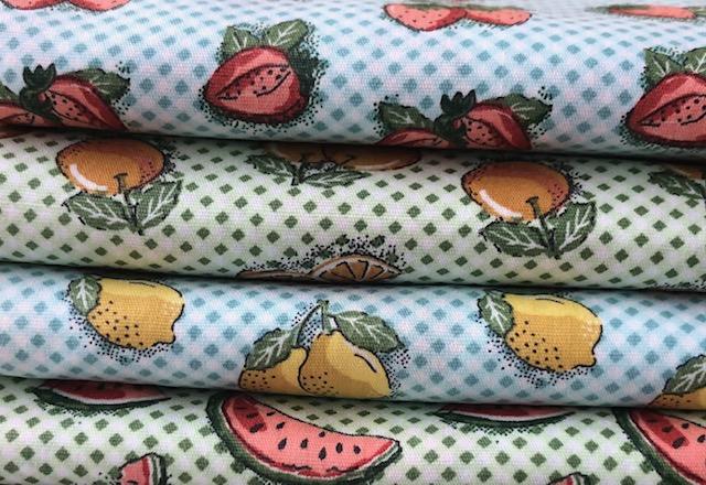 Kit Amarradinho Mini Frutas - 50cm x 150cm  - Tecidos Digitais
