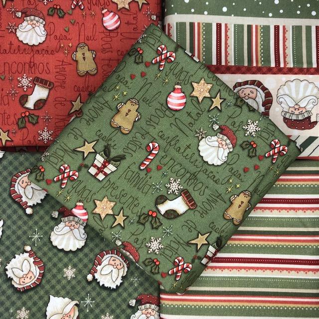 Kit Amarradinho Natal 1 - 50cm x 150cm  - Tecidos Digitais
