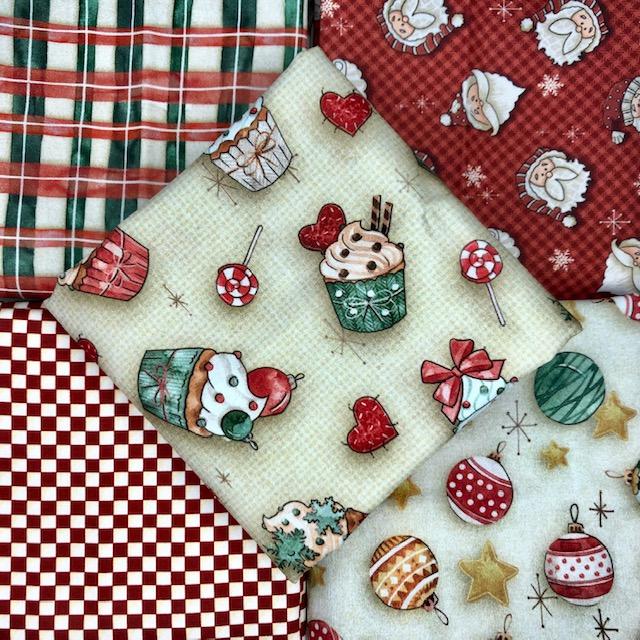 Kit Amarradinho Natal 2 - 50cm x 150cm  - Tecidos Digitais