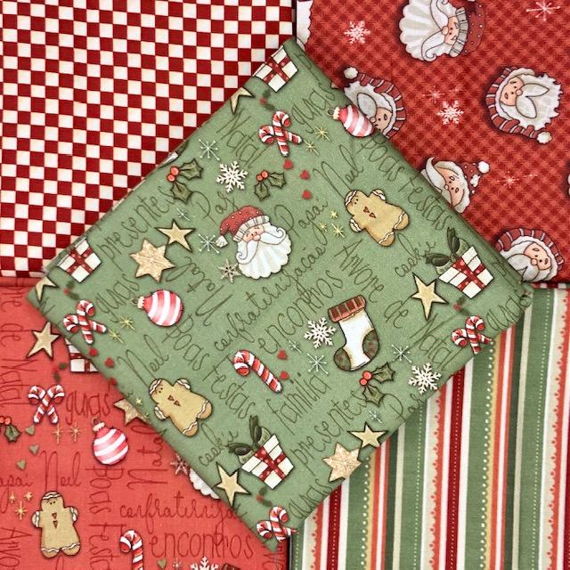 Kit Amarradinho Natal 3 - 50cm x 75cm  - Tecidos Digitais