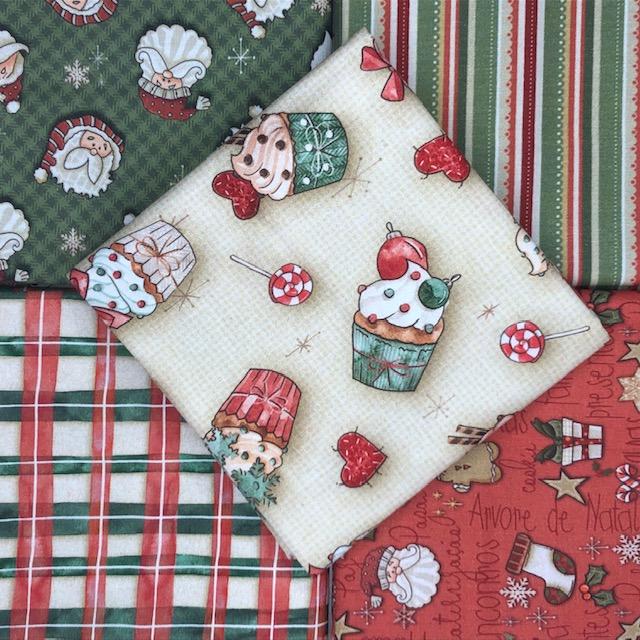 Kit Amarradinho Natal 4 - 50cm x 75cm  - Tecidos Digitais
