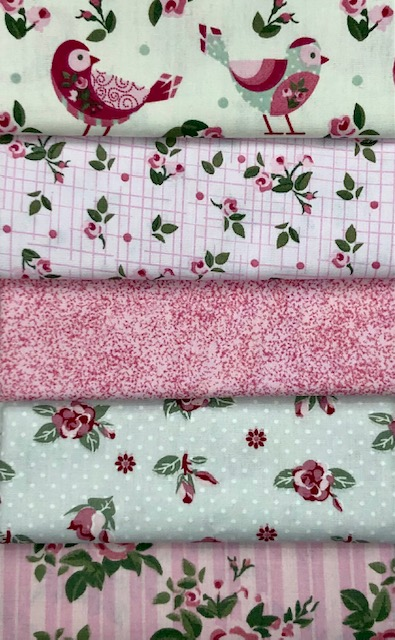 Kit Amarradinho Pássaros Rosa - 50cm x 75cm  - Tecidos Digitais