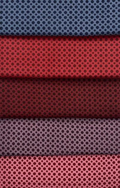 Kit Amarradinho Poá Vermelho - 50cm x 75cm  - Tecidos Digitais
