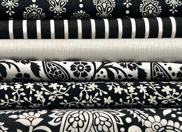 Kit Amarradinho Preto e Branco - 50cm x 150cm  - Tecidos Digitais