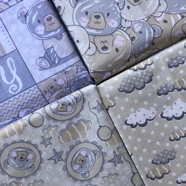Kit Amarradinho Ursos e Balões - 50cm x 150cm  - Tecidos Digitais
