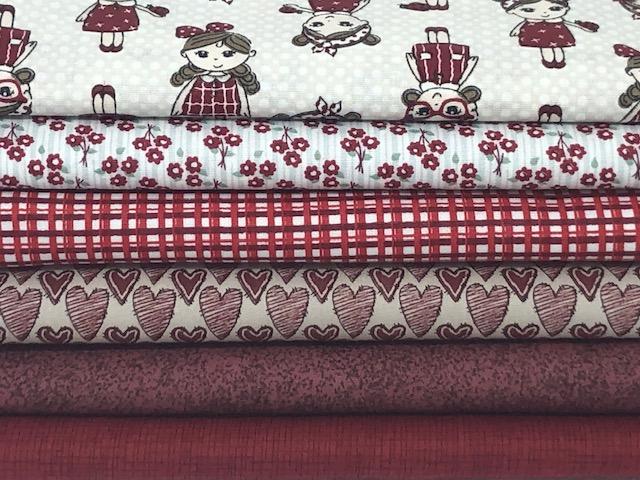 Kit Bonequinha Vermelha - 50cm x 150cm  - Tecidos Digitais
