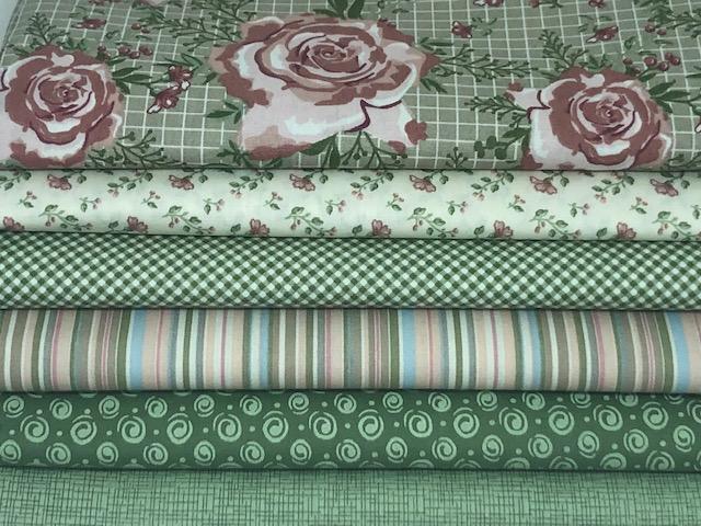 Kit Foral Verde - 50cm x 150cm  - Tecidos Digitais