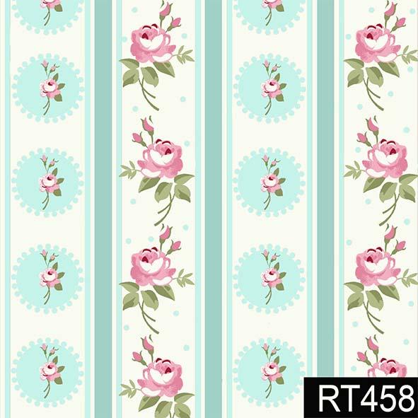 Listras Florais Fadas Tiffany  - Tecidos Digitais