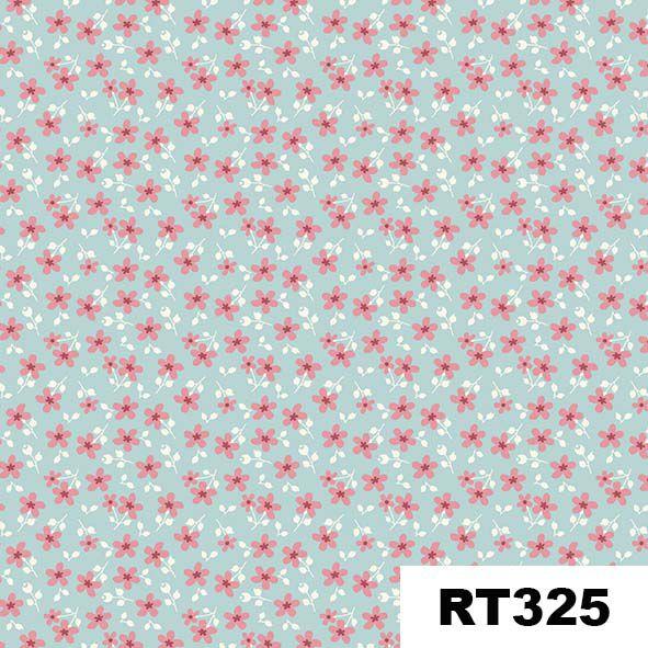 Micro Floral Garden Azul  - Tecidos Digitais