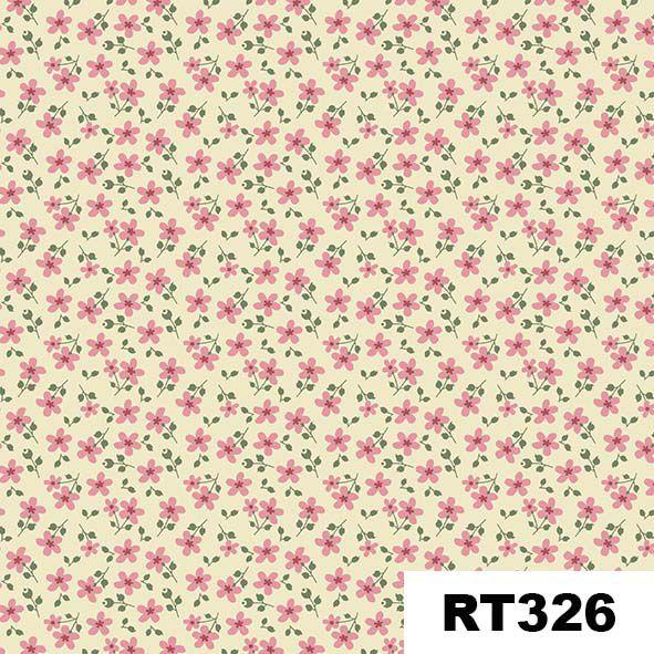 Micro Floral Garden Creme  - Tecidos Digitais