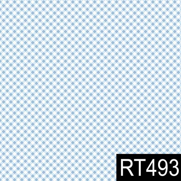 Micro Xadrez Azul Claro  - Tecidos Digitais