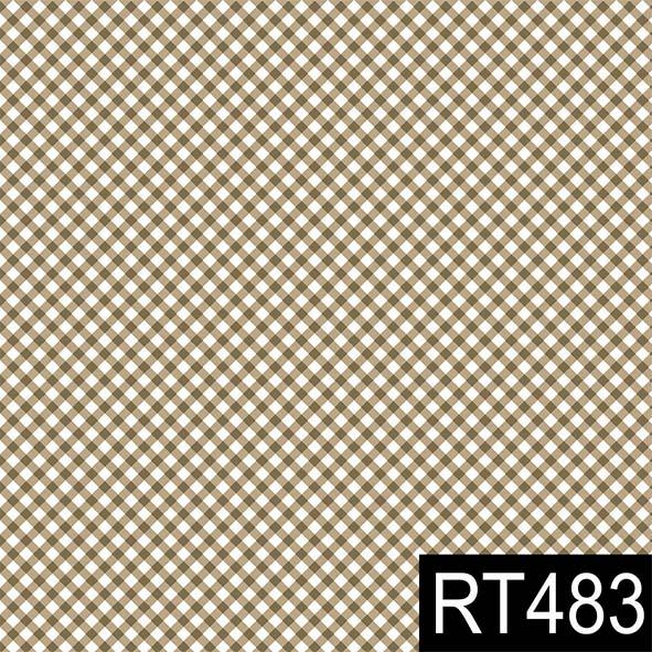 Micro Xadrez Caramelo  - Tecidos Digitais