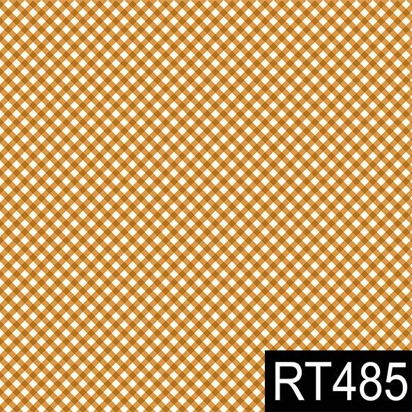 Micro Xadrez Laranja  - Tecidos Digitais