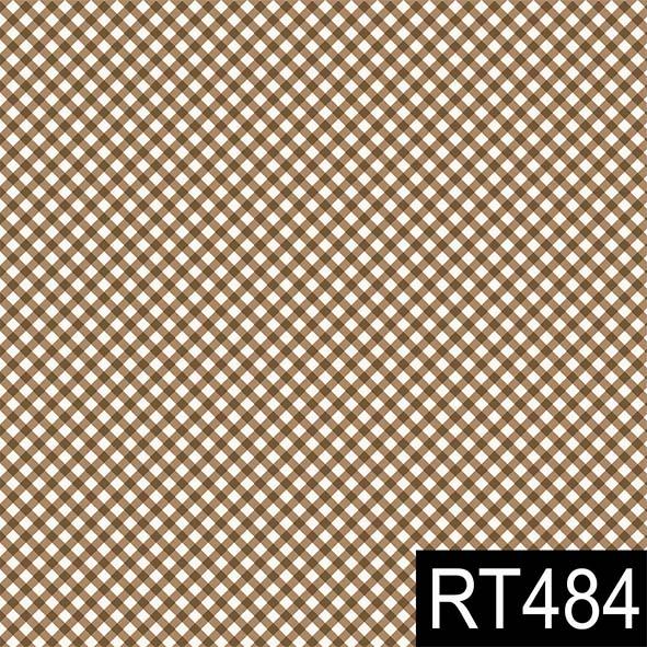 Micro Xadrez Marrom  - Tecidos Digitais