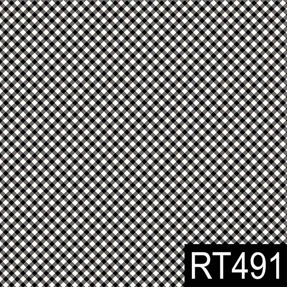 Micro Xadrez Preto  - Tecidos Digitais
