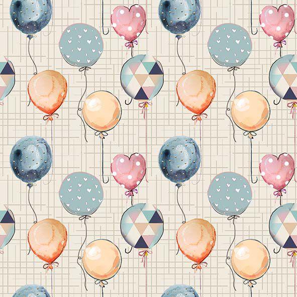 Mini Balões  - Tecidos Digitais