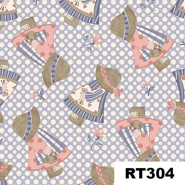 Mini Camponesas Azul  - Tecidos Digitais