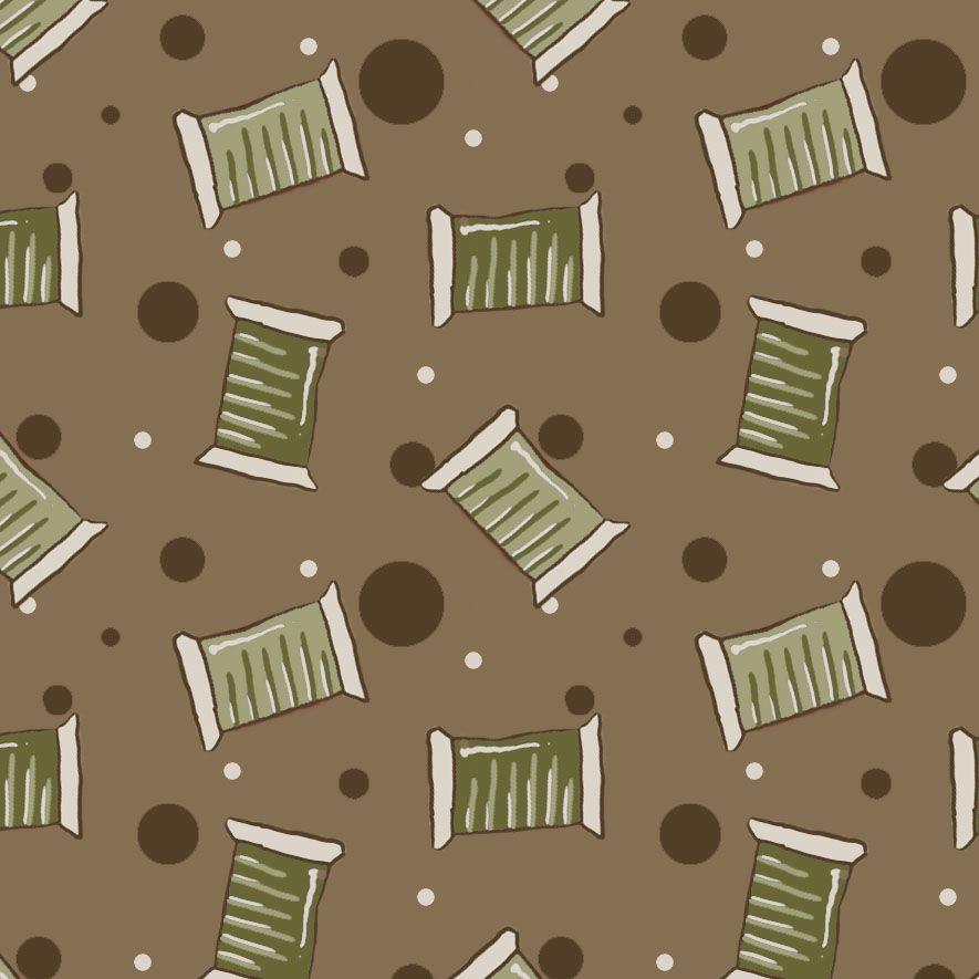 Mini Carreteis Marrom  - Tecidos Digitais