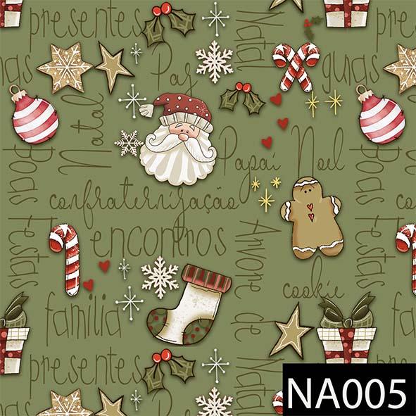 Mini Elementos Natal Verde  - Tecidos Digitais