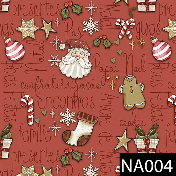 Mini Elementos Natal Vermelho  - Tecidos Digitais