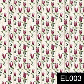Mini Floral elegance crú  - Tecidos Digitais