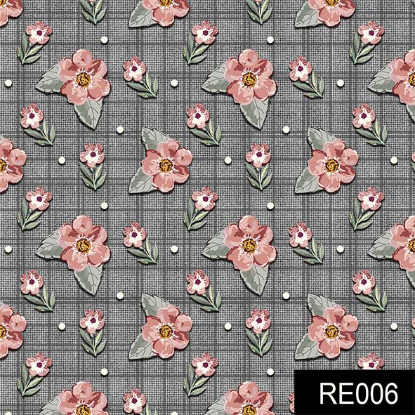 Mini Floral Sweet Grafite  - Tecidos Digitais