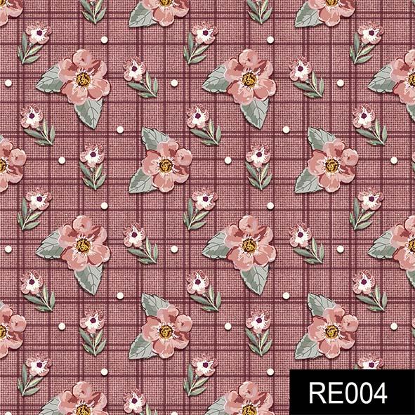 Mini Floral Sweet Vinho  - Tecidos Digitais
