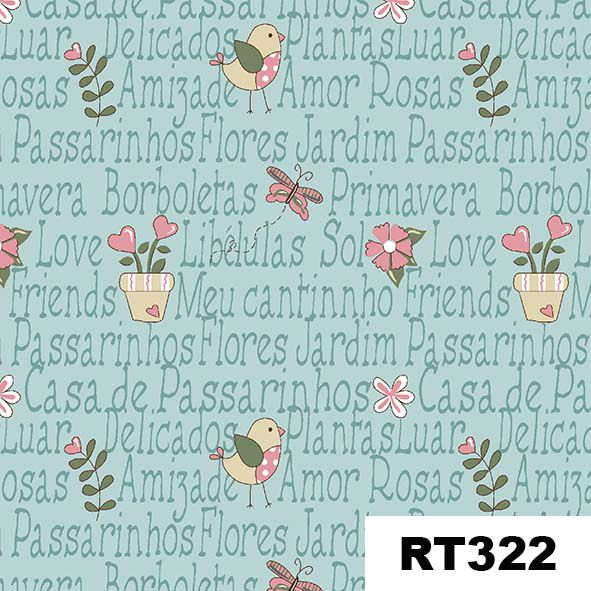 Mini Garden Azul  - Tecidos Digitais
