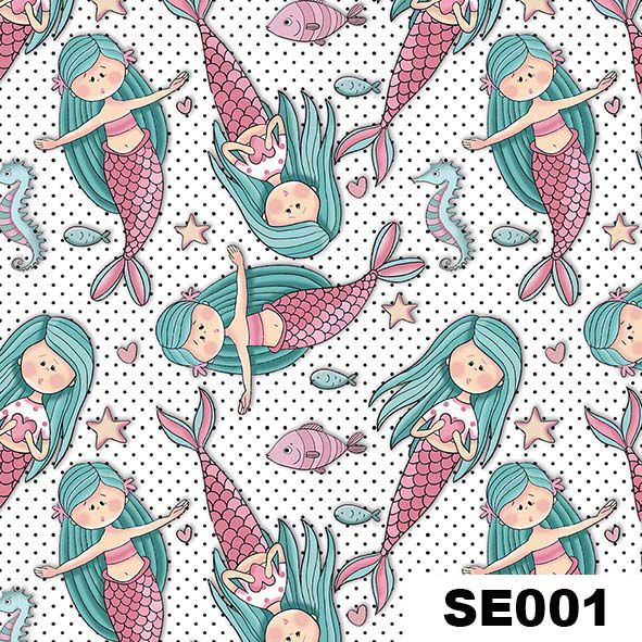 Mini Sereias  - Tecidos Digitais