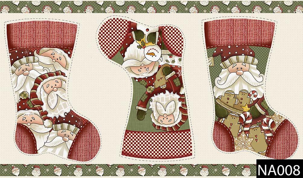 Painel Botas Natal  - Tecidos Digitais