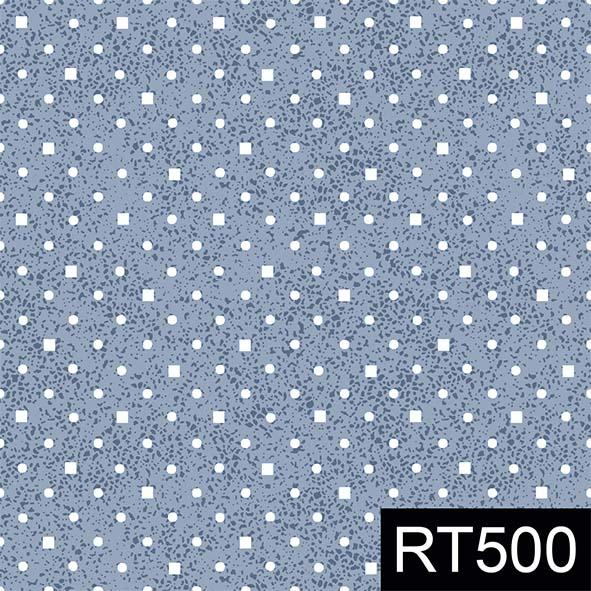 Poá e Quadradinhos Azul  - Tecidos Digitais
