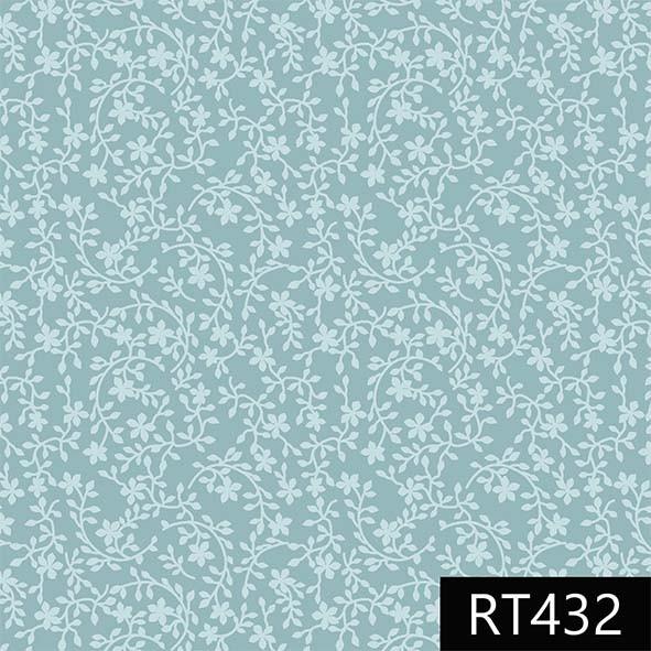 Raminhos Azul Piscina  - Tecidos Digitais