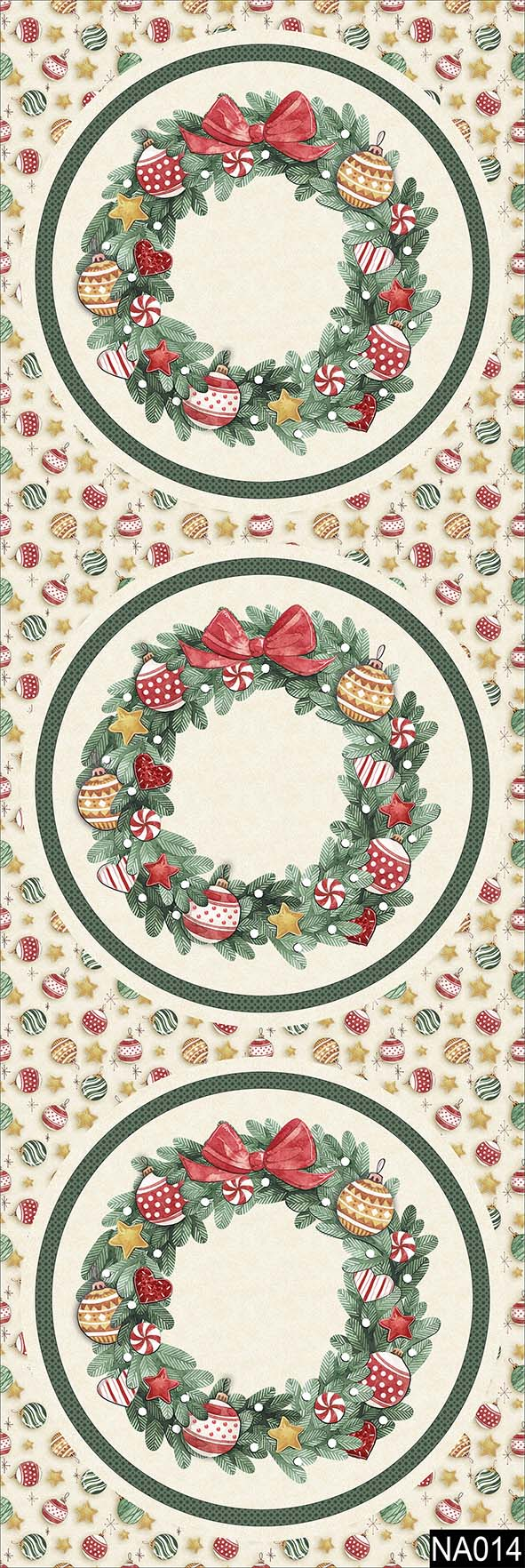 Sousplat Guirlanda Natal  - Tecidos Digitais
