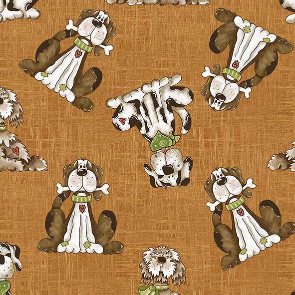 Tecido Cachorrinhos  - Tecidos Digitais