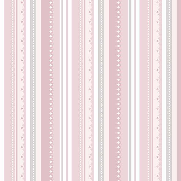 Tecido Listrado Rosa  - Tecidos Digitais