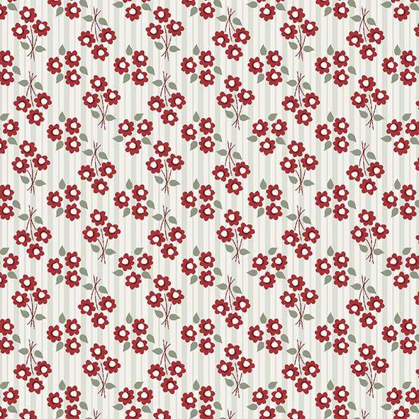 Tecido Micro Bouquet Vermelho  - Tecidos Digitais