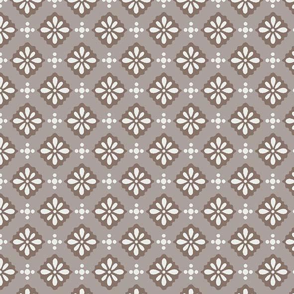 Trama Fashion Floral Marrom - 50cm x 75cm  - Tecidos Digitais