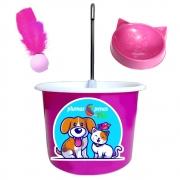 Bebedouro Gato Tipo Fonte Pet Bica Mini Bomba - Pink