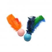 Bolinha para Gato Ball Fishing Brinquedo 2 unid. Sortido