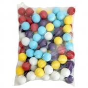 Bolinhas de Plástico Coloridas Ping Pong Pacote 100 Unidades
