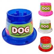 Comedouro 250 ml Antiformiga Funcional Cães Alto Lento Glitter